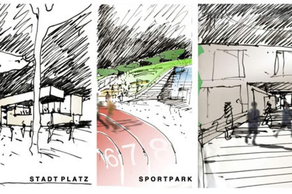 Bildungscampus und Sportpark  Freiham, 2. Preis